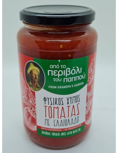 NATURAL TOMATO JUICE WITH OLIVE OIL...